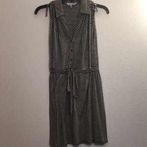 Speeckless black and cream striped dress